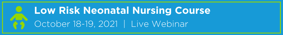 Low Risk Neonatal Nursing Course Banner