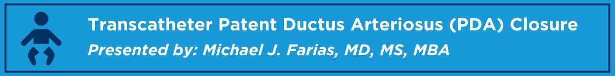 Transcatheter Patent Ductus Arteriosus (PDA) Closure Banner