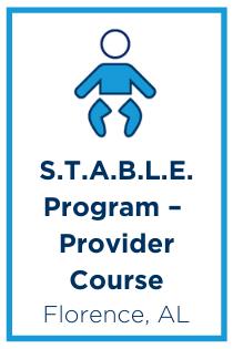 The S.T.A.B.L.E. Program – Provider Course Banner